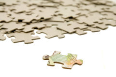 Canadian dollar and  puzzle Stock Photo