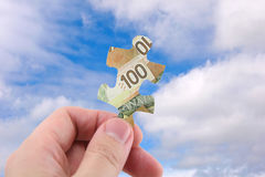 Canadian dollar puzzle Royalty Free Stock Photo