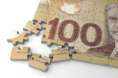 Canadian Dollar Puzzle Stock Image