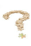 Canadian dollar and  question mark Royalty Free Stock Images