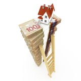 Canadian dollar stack Stock Photos