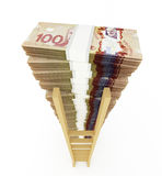 Canadian dollar stack Royalty Free Stock Images