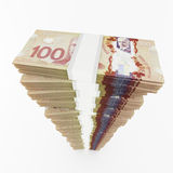Canadian dollar stack Stock Photography