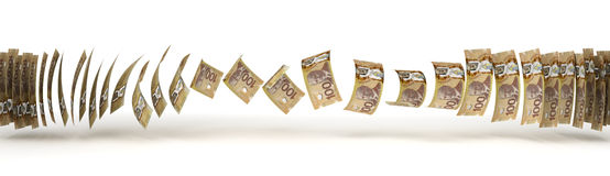 Canadian Dollar Transfer Royalty Free Stock Photos