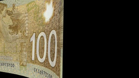 Canadian Dollar Transition stock footage