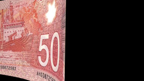 Canadian Dollar Transition stock video