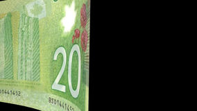 Canadian Dollar Transition stock video footage