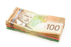 Canadian dollars Stock Photography