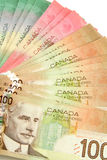 Canadian dollars Royalty Free Stock Image