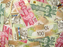Canadian dollars Stock Image