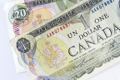 Canadian dollars. Some note of canadian dollars Royalty Free Stock Photo