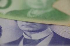 Canadian dollars bank notes Stock Images