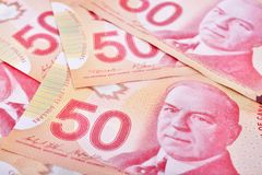 Free Canadian Dollars, Close Up Stock Image - 123951281