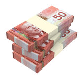 Canadian dollars money isolated on white background. Computer generated 3D photo rendering Stock Images