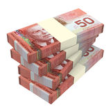 Canadian dollars money isolated on white background. Stock Photo