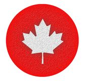 Canadian eh - Stylized Maple Leaf royalty free stock photo