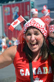 Canadian fans arrive to BC Place Stadium Stock Images