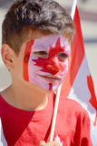 Canadian fans arrive to BC Place Stadium Royalty Free Stock Image