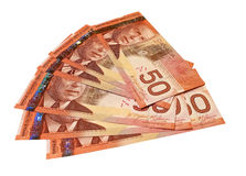Canadian Fifty Dollar Bills Royalty Free Stock Photo