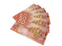 Canadian Fifty Dollar Bills Stock Photos