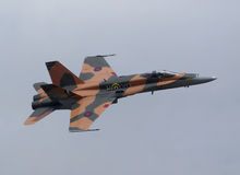 Canadian Fighter Jet CF-18 Hornet Flying Royalty Free Stock Photography