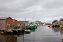 Canadian fishing village Stock Photography
