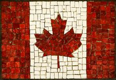 Canadian flag. Mosaic abstract canadian flag made of small blocks Stock Images