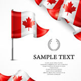 Canadian flag & banners with text Royalty Free Stock Photos