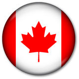 Canadian Flag Button. Glassy Web Button with the Canadian Flag