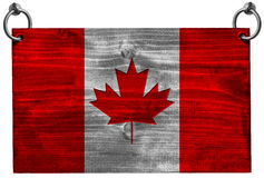 Canadian Flag with Clipping Path Royalty Free Stock Image