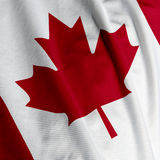 Canadian Flag Closeup Royalty Free Stock Photography
