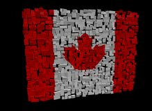 Canadian flag on cubes Royalty Free Stock Images