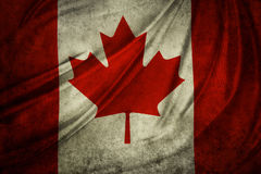 Canadian flag. Detail. Grunge effect Stock Photos