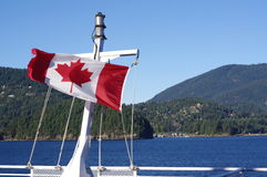 Canadian flag displays its beauty Royalty Free Stock Photo