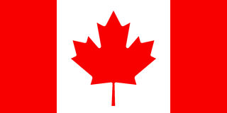 Canadian flag, flat layout,  illustration Stock Image