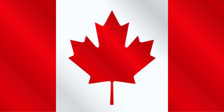 Canadian Flag Gloss. The canadian flag in red and white gloss royalty free illustration
