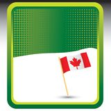Canadian flag on green halftone template Royalty Free Stock Images