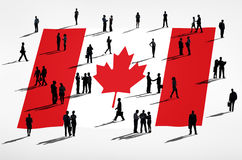 Canadian Flag stock illustration