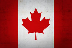 Canadian flag. With grunge texture Stock Image
