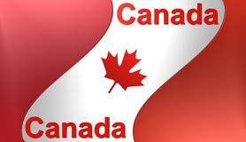 Canadian flag, illustration Stock Image