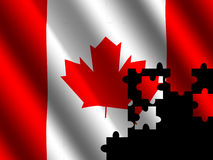 Canadian flag with jigsaw effect Royalty Free Stock Image