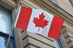 Canadian flag in Ottawa Stock Photography