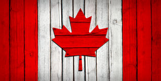 Canadian flag painted on wooden boards Royalty Free Stock Images