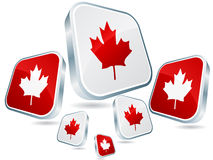 Canadian flag poster Stock Photo