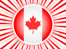 Canadian flag poster Stock Images