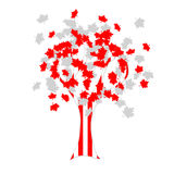 Canadian flag tree Royalty Free Stock Photo