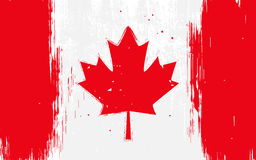 Canadian flag. Vector flag of Canada, Canadian flag in grunge style Royalty Free Stock Images