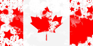 Canadian flag. Vector grunge flag. Using for decoration works Royalty Free Stock Images