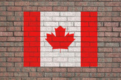 Canadian flag on wall Royalty Free Stock Photo