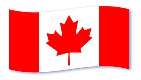 Canadian Flag Wave Royalty Free Stock Images